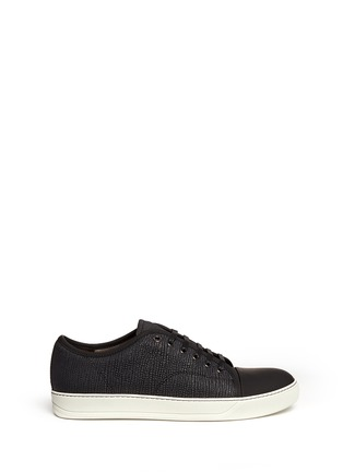 Main View - Click To Enlarge - Lanvin - Gummy toe cap textured leather sneakers
