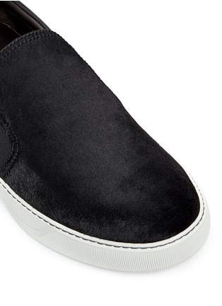 Detail View - Click To Enlarge - Lanvin - Calf hair and suede skate slip-ons