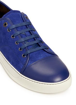 Detail View - Click To Enlarge - Lanvin - Gummy toe cap suede sneakers