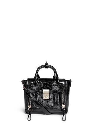 Main View - Click To Enlarge - 3.1 Phillip Lim - 'Pashli' mini patent leather satchel