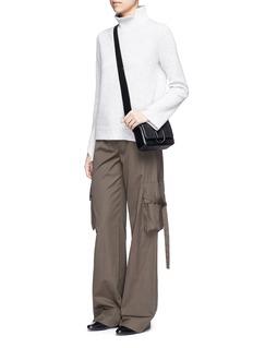 3.1 Phillip Lim'Alix' mini paperclip flap leather shoulder bag
