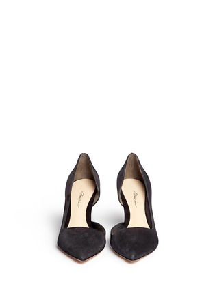 Front View - Click To Enlarge - 3.1 Phillip Lim - 'Martini' cutout side suede pumps