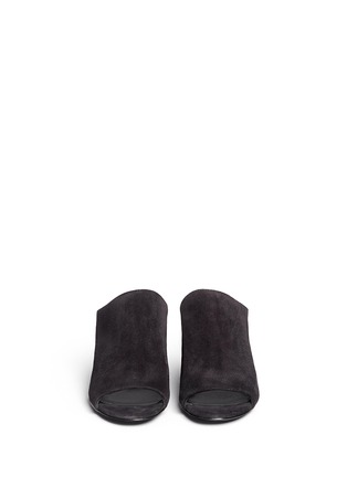 Front View - Click To Enlarge - 3.1 Phillip Lim - 'Cube' suede mules