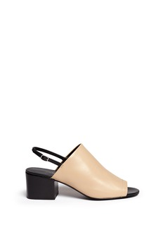 3.1 Phillip Lim 'Cube' leather slingback sandals