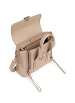 'Pashli' mini grainy leather satchel
