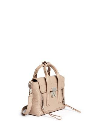 Front View - Click To Enlarge - 3.1 Phillip Lim - 'Pashli' mini grainy leather satchel