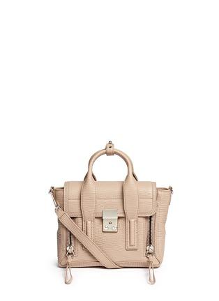 Main View - Click To Enlarge - 3.1 Phillip Lim - 'Pashli' mini grainy leather satchel