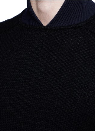 Detail View - Click To Enlarge - Sacai - Flannel back yoke wool sweater