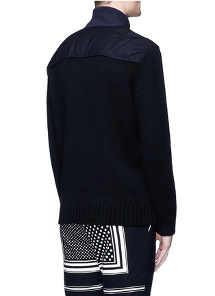 Back View - Click To Enlarge - Sacai - Flannel back yoke wool sweater