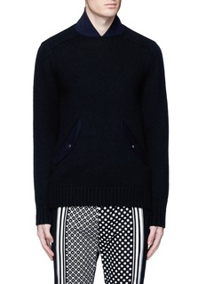 Sacai Flannel back yoke wool sweater