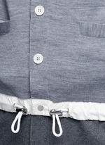 Drawstring hem wool cardigan