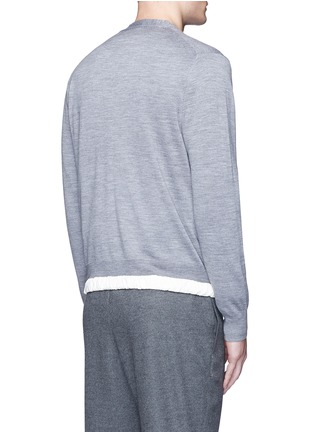 Back View - Click To Enlarge - Sacai - Drawstring hem wool cardigan