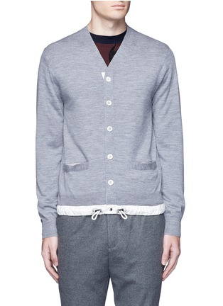 Main View - Click To Enlarge - Sacai - Drawstring hem wool cardigan