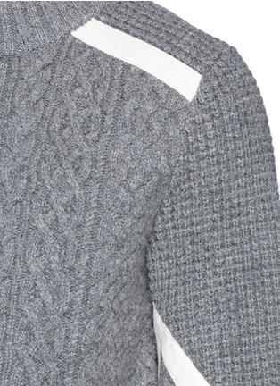 细节 - 点击放大 - SACAI - 罗缎拼贴羊毛针织衫