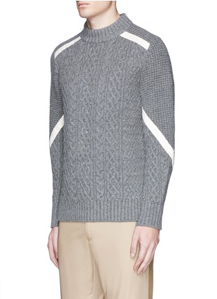 正面 -点击放大 - SACAI - 罗缎拼贴羊毛针织衫