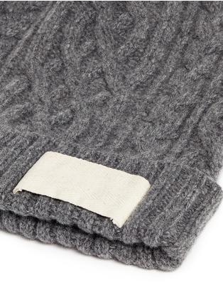 细节 - 点击放大 - SACAI - 罗纹条带装饰羊毛针织帽