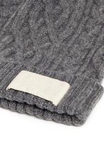Cable knit wool beanie