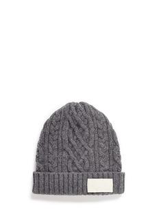 SacaiCable knit wool beanie