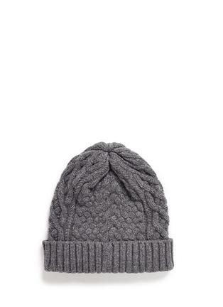 模特儿示范图 - 点击放大 - SACAI - 罗纹条带装饰羊毛针织帽