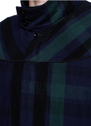 Detail View - Click To Enlarge - Sacai - Check plaid flannel blouson jacket