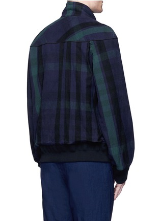 Back View - Click To Enlarge - Sacai - Check plaid flannel blouson jacket