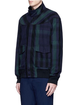 Front View - Click To Enlarge - Sacai - Check plaid flannel blouson jacket