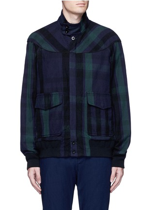 Main View - Click To Enlarge - Sacai - Check plaid flannel blouson jacket