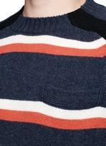 拼色羊毛针织衫