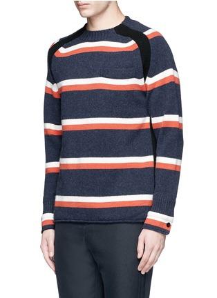 正面 -点击放大 - SACAI - 拼色羊毛针织衫