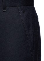 Slim fit ribbed cuff wool pants