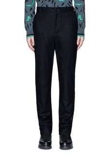 Sacai Slim fit ribbed cuff wool pants