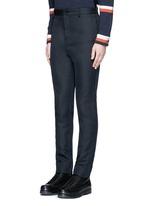 Raw side seam military pants