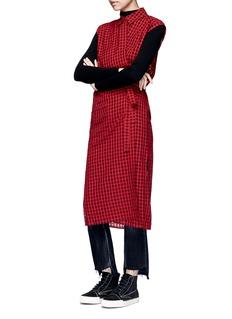 T By Alexander WangCheck virgin wool blend wrap shirt dress