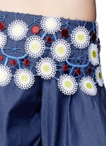 'Pallas' floral lace tiered off-shoulder dress