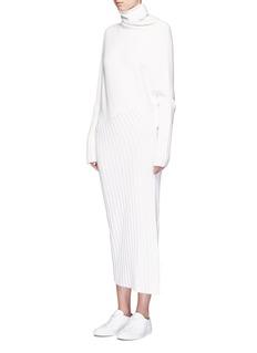 HELEN LEEDolman sleeve asymmetric knit dress
