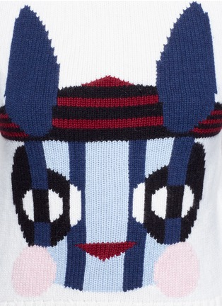 Detail View - Click To Enlarge - HELEN LEE - Bad Bunny' intarsia turtleneck sweater