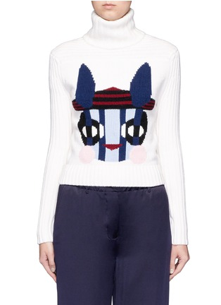 Main View - Click To Enlarge - HELEN LEE - Bad Bunny' intarsia turtleneck sweater