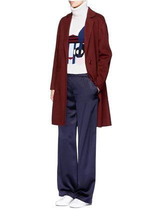 Figure View - Click To Enlarge - HELEN LEE - Bad Bunny' intarsia turtleneck sweater