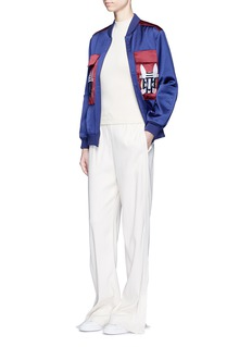 HELEN LEE 'Bad Bunny' embroidered colourblock bomber jacket