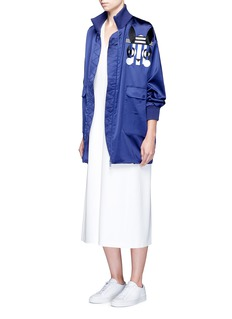 HELEN LEE Jade rabbit embroidered satin jacket