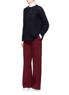 HELEN LEEHigh waist wool blend flare pants