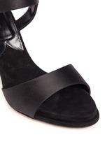 'Kalida' buckle satin slingback sandals