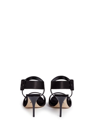 Back View - Click To Enlarge - Paul Andrew - 'Kalida' buckle satin slingback sandals