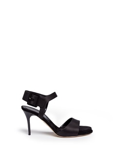 Paul Andrew 'Kalida' buckle satin slingback sandals