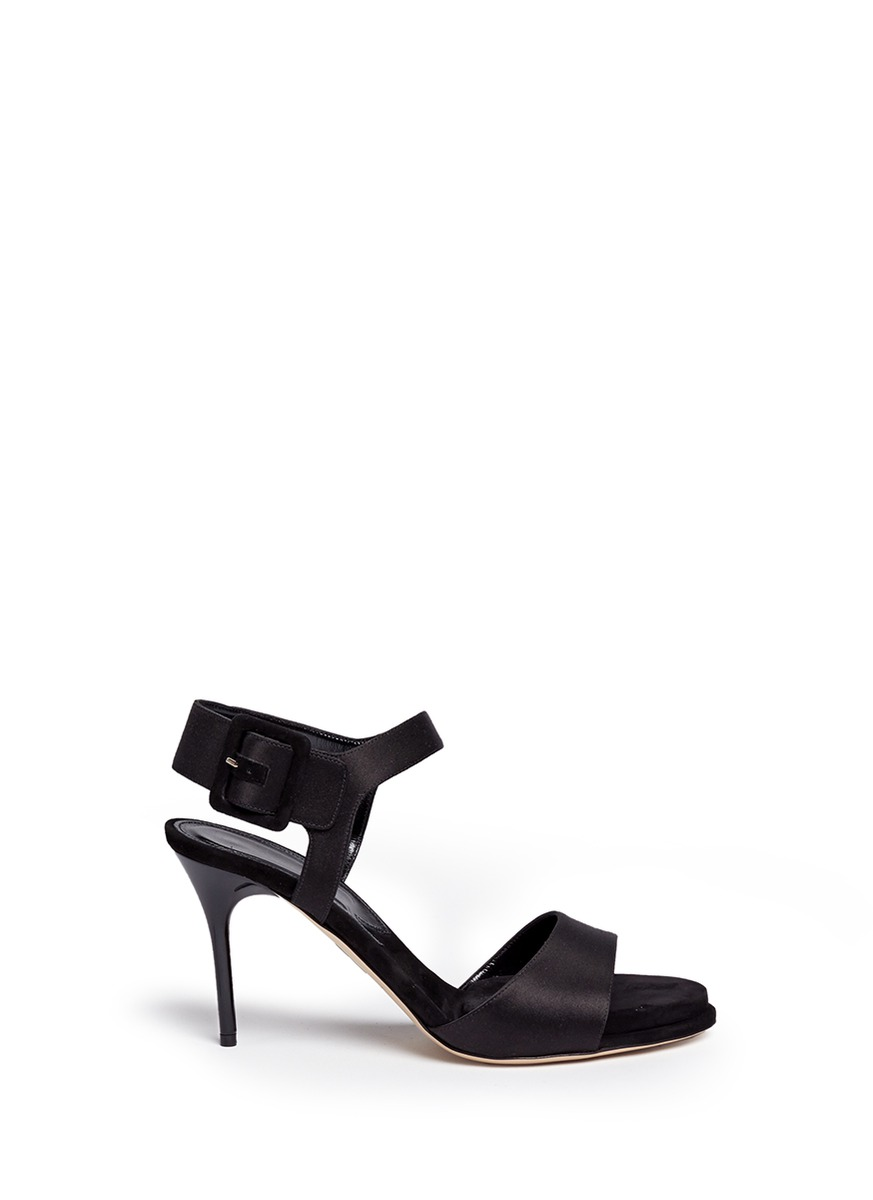 Kalida buckle satin slingback sandals by Paul Andrew