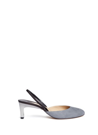 Paul Andrew - 'Celestine' leather slingback suede pumps