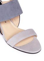 'Xiamen' colourblock suede strappy sandals