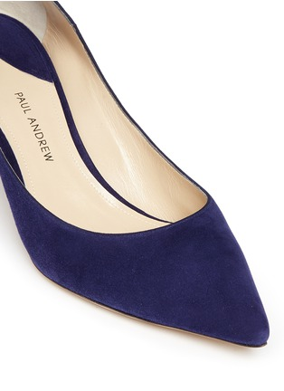 Detail View - Click To Enlarge - Paul Andrew - 'Manhattan' suede pumps