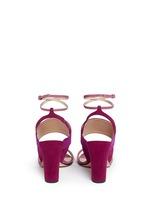 'Xiamen' colourblock suede slingback sandals
