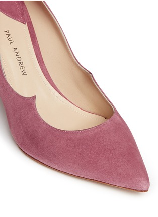 Detail View - Click To Enlarge - Paul Andrew - 'Kimura' wavy topline suede pumps